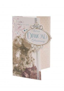 Luxury Diamond Anniversary Card