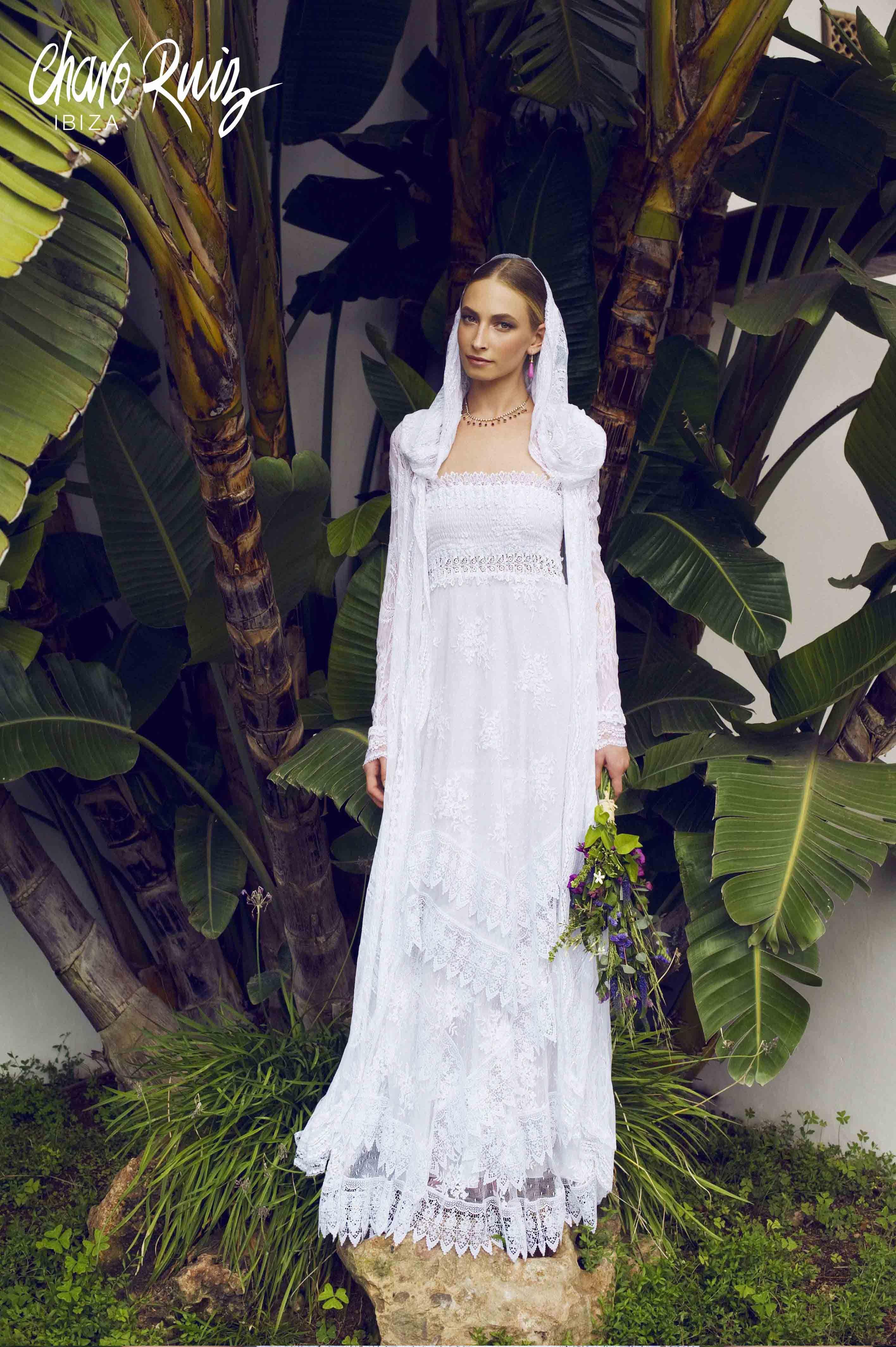Vestidos de novia ibicencos en el corte ingles