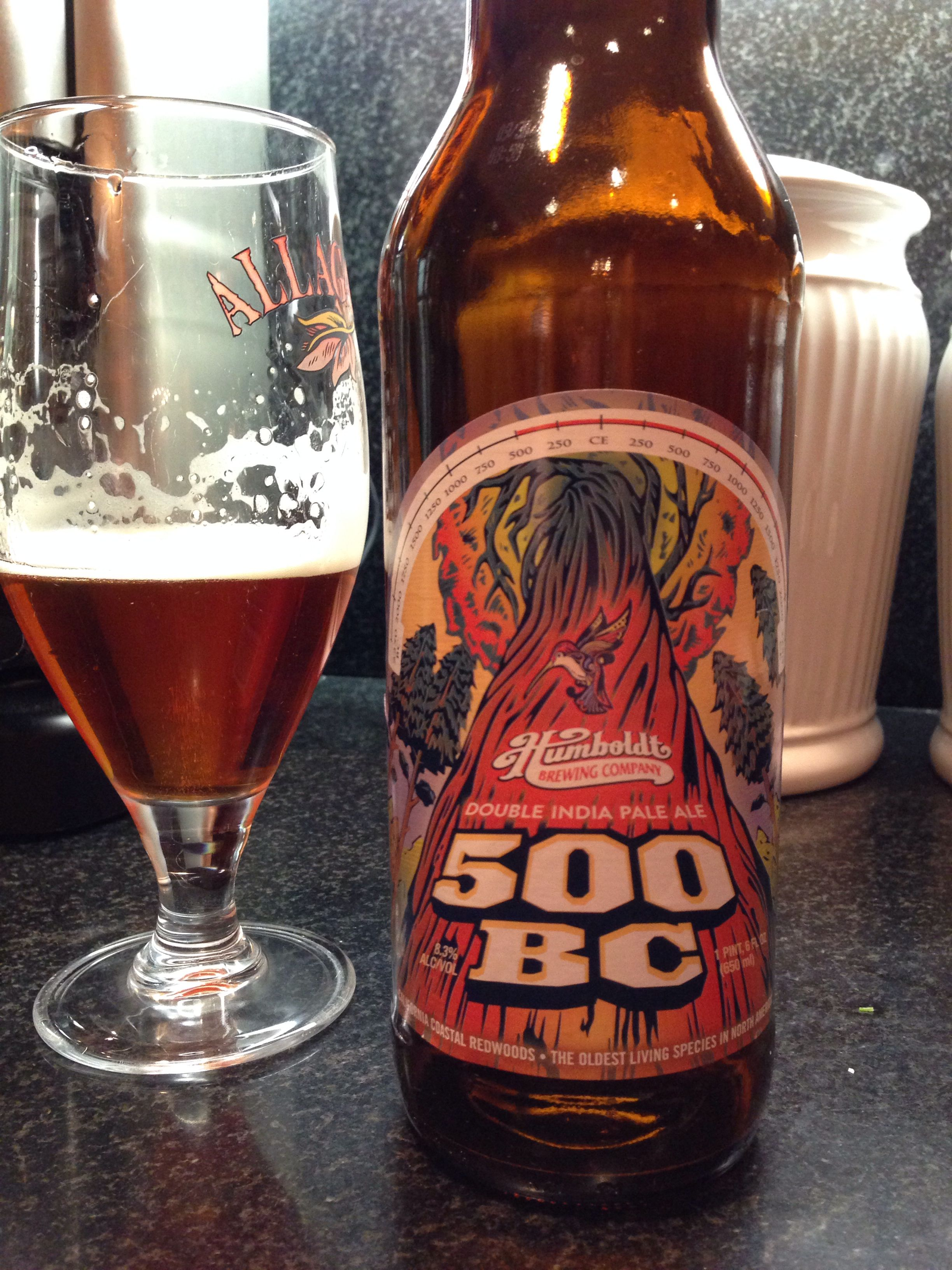 Humboldt 500 Bc Double Ipa Malty And Rich Coffee Notes India Pale Ale Best Beer Pale Ale