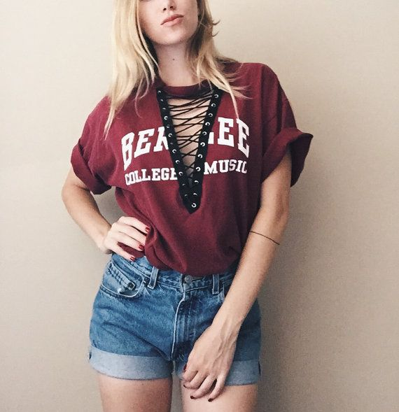 Handmade Lace Up Vintage Tshirt Lf Inspired Berklee College