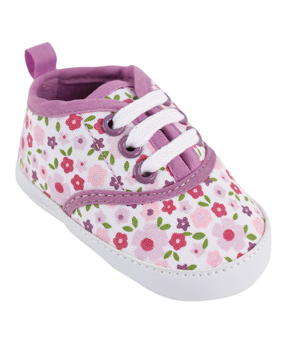 Lilac Floral Classic Canvas Sneaker