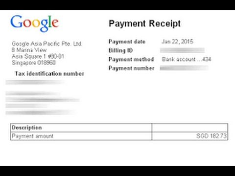 How to get Payment Receipt of google adsense 2017 1login into - a receipt of payment