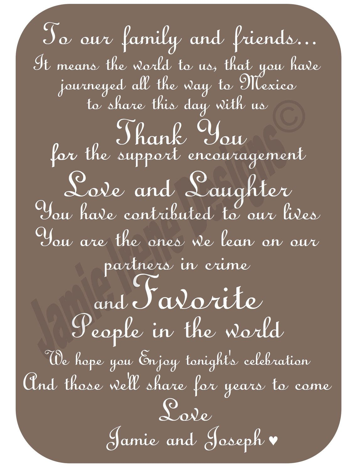 wedding thank you card wording Google Search – Destination Wedding Thank You Card Wording
