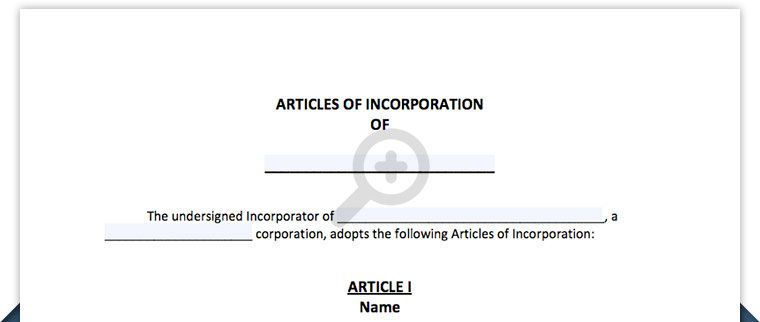 Articles of Incorporation - Free Template Form - Northwest