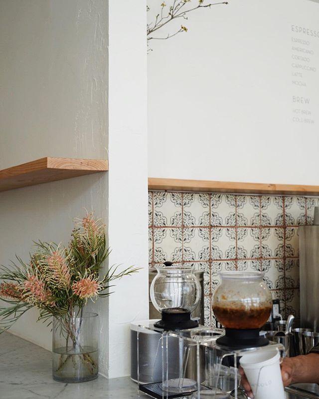 Mid-day tea break. Loving these backsplash tiles.