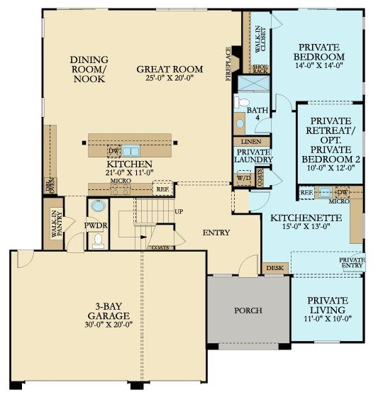 4121 Next Gen By Lennar New Home Plan In Mill Creek Crossing House Plans Multigenerational House Plans Floor Plans