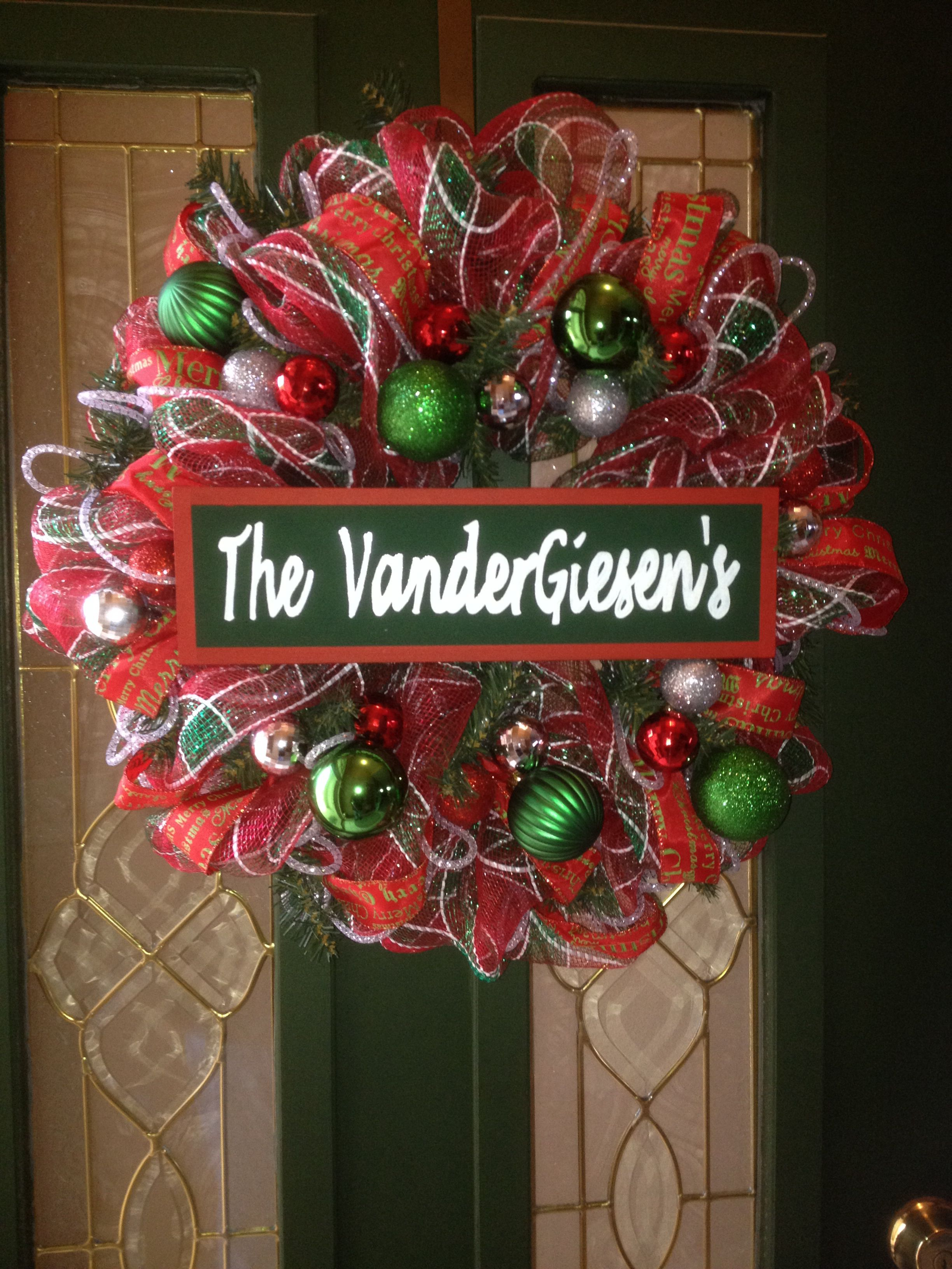 Personalized Christmas Wreath | Christmas wreaths ...