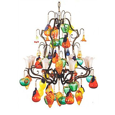 Colorful glass fruit chandelier i would have to put this in a colorful glass fruit chandelier i would have to put this in a breakfast nook or mozeypictures Images
