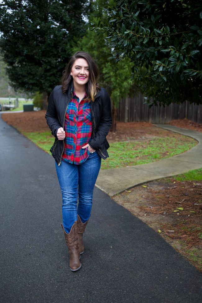 How To Wear Cowboy Boots Via Maeamor With Invisible Heels Plaid
