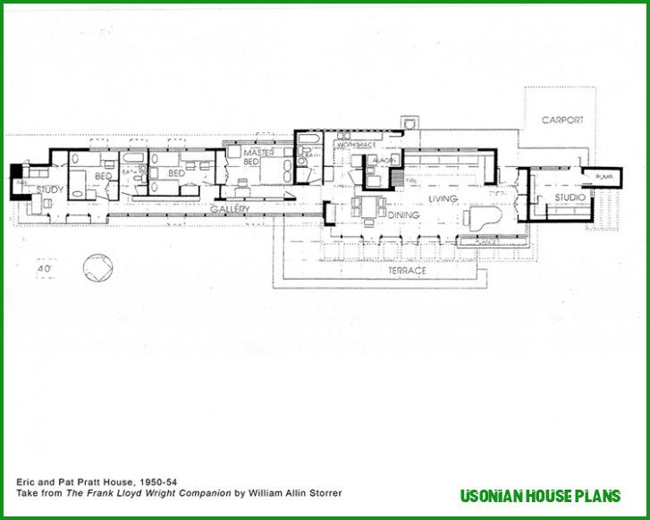 5 Easy Rules Of Usonian House Plans Usonian House Plans
