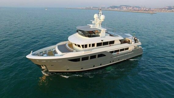 """There are some big cruising plans for the 33m Cantieri delle Marche built #MYStorm, which launched in July. """"We'll spend the next two years in the Med, wintering in Malta, and then we'll head for the UK,"""" says Alan Cory, captain of Storm. And that will just be the start. A crossing of the North Atlantic from the UK to Nova Scotia is next, followed by a cruise down the eastern seaboard of the USA..."""