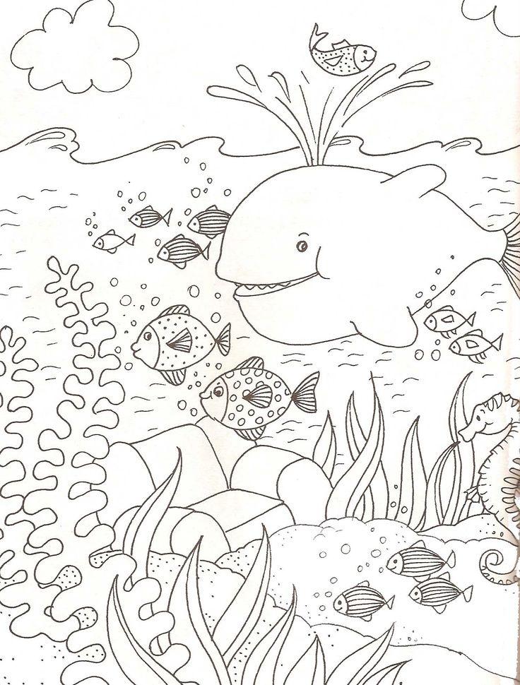 Kleurplaten Kleine Dieren.Onderwaterwereld Kleurplaat Google Zoeken 10 Kleine Visjes