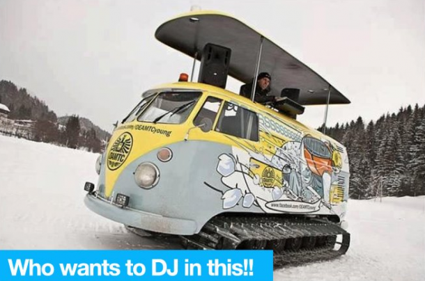 Great mobile winter alternative for my own DJ truck ;)