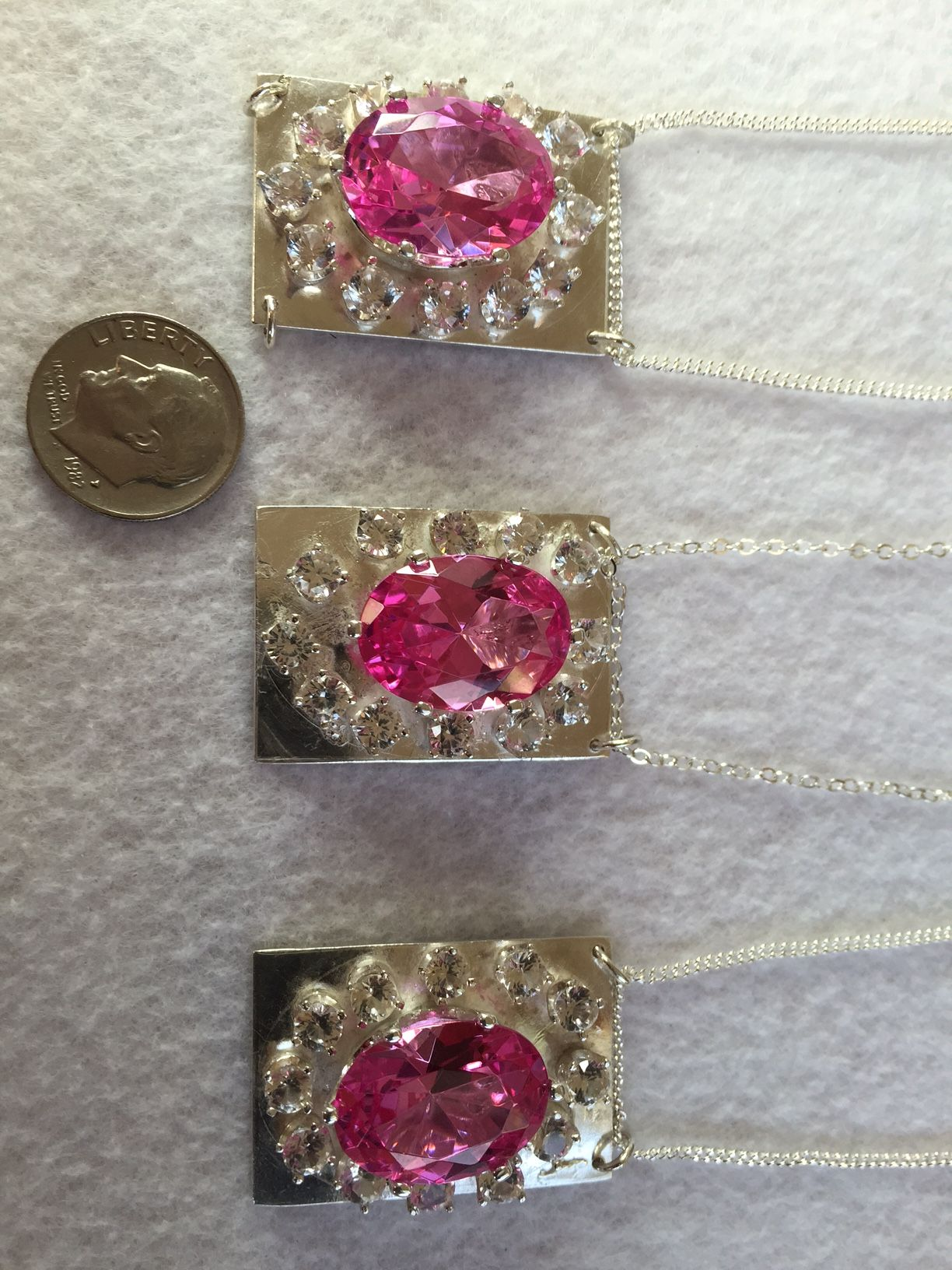 Pendants made for trip to las vegas lab created pink sapphires and pendants made for trip to las vegas lab created pink sapphires and mined white aloadofball Images