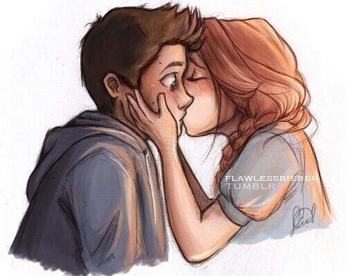 beautiful, couple, cute, draw, fanart, holland roden, kiss, live, love, lydia martin, stiles stilinski, teen wolf, stydia, dylan o'brien