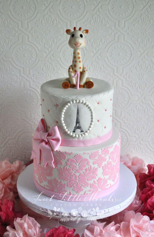 Sophie The Giraffe 1st Birthday Cake Cakes 4 Baby Showers