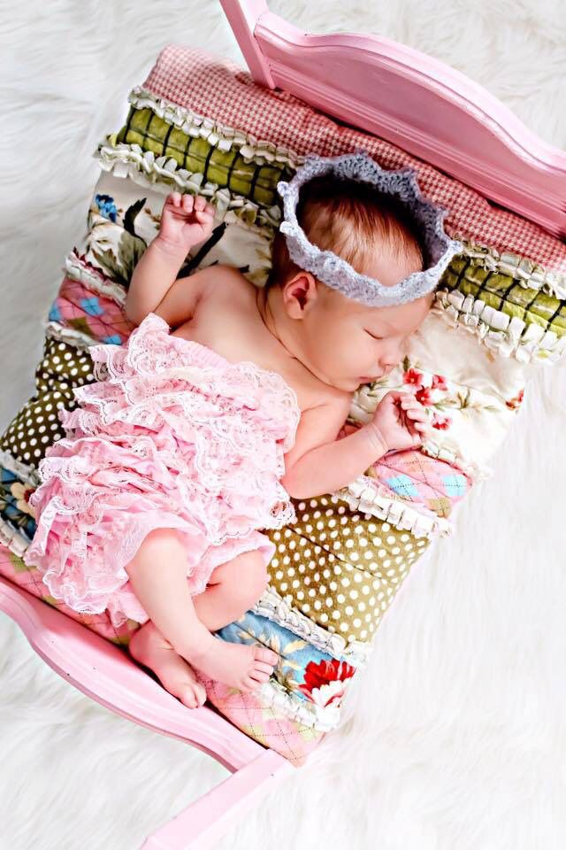 Sleeping Beauty newborn photo with baby Savannah