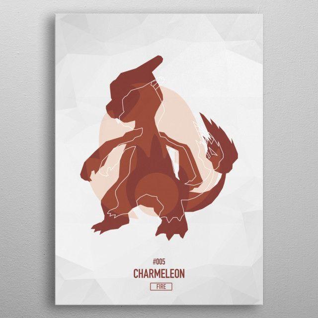 Pokemon Low Poly Art Poster - Minimalism
