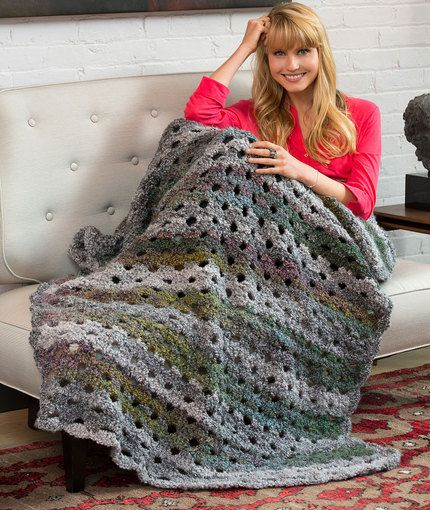 Shaded Greys Throw Free Crochet Pattern in Red Heart Yarns | New ...