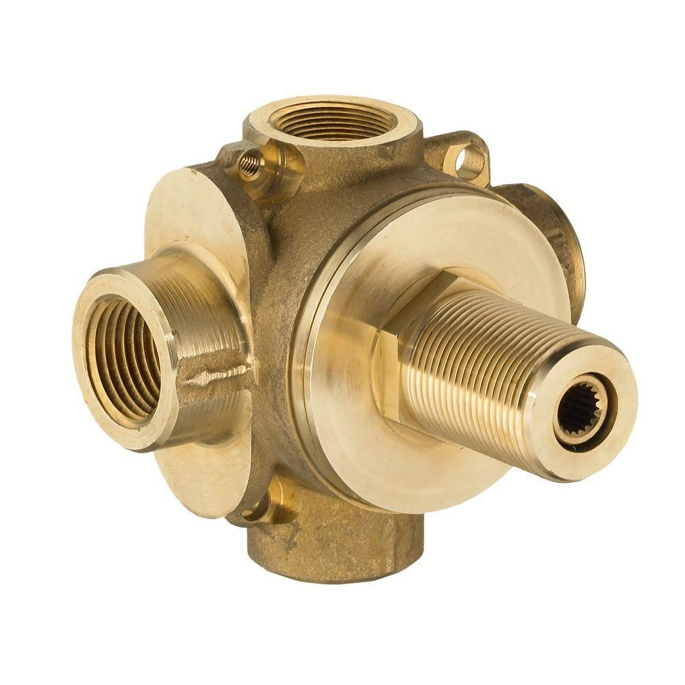American Standard 3-Way In-Wall Rough Diverter Valve, Brass ...