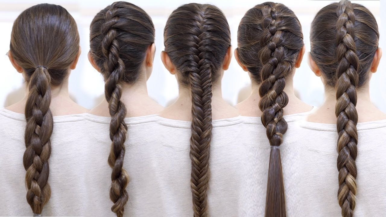 How To Braid Your Hair 6 Cute Braid For Beginners Braided Hairstyles Easy Braids For Long Hair Easy Braids