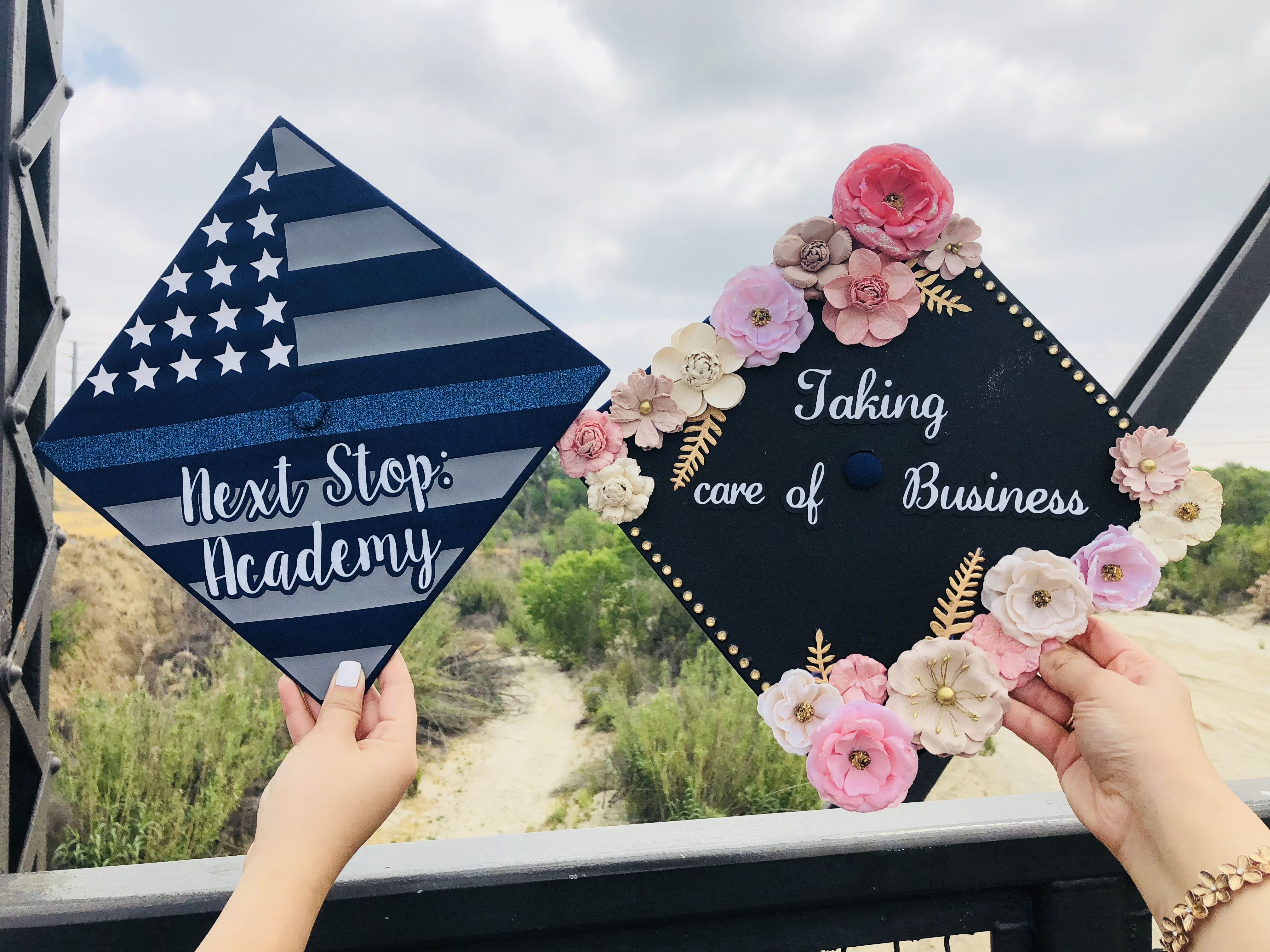 Bff Police Academy Business Accounting Graduation Caps 2018