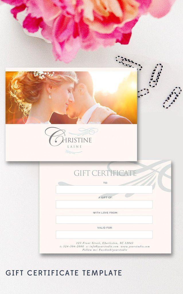 Photographer Gift Card Template By Stephanie Design Photographer