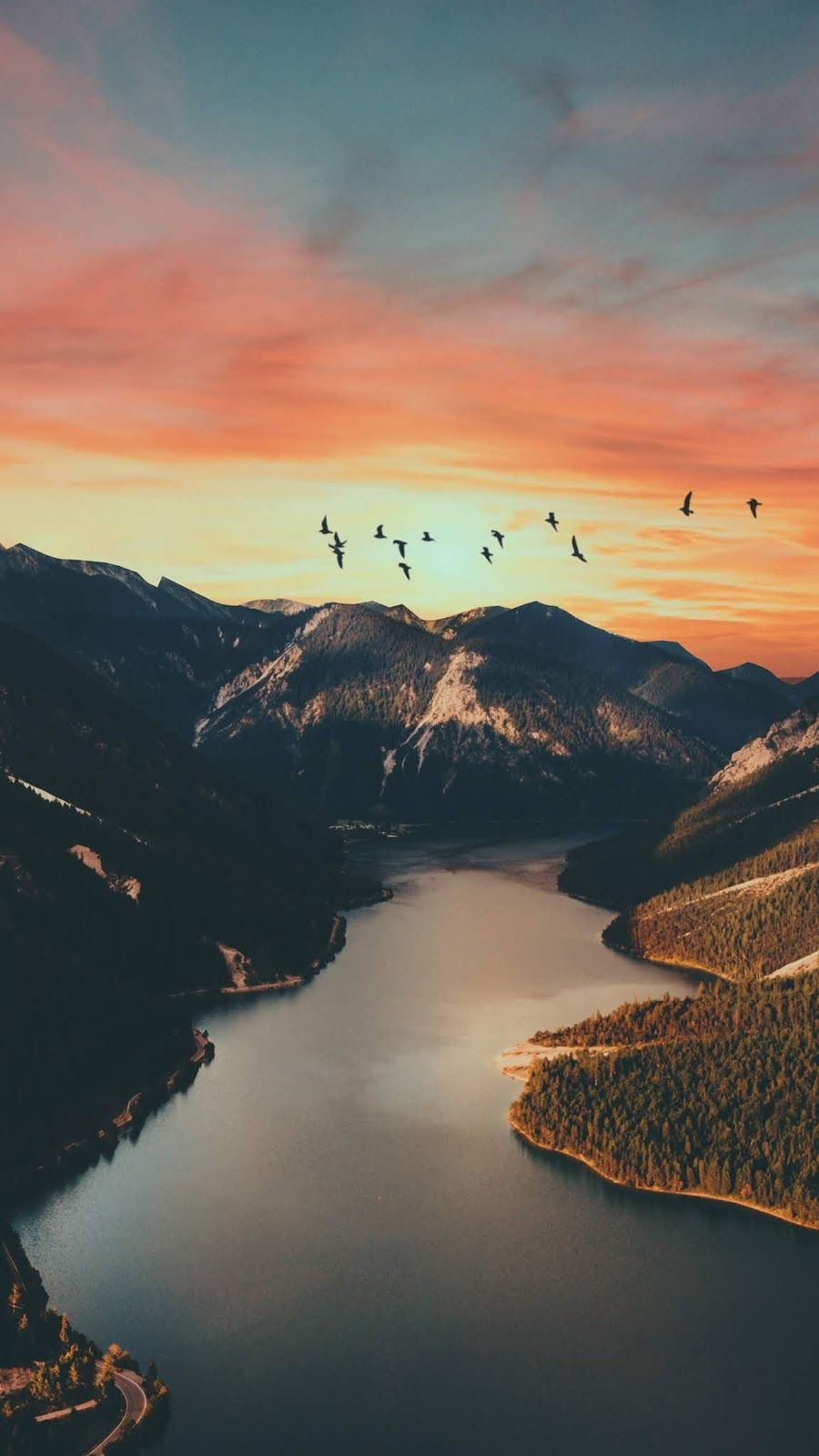 Sunset Mountain Wallpaper Wallpaper Iphone Android Background Followme Best Nature Wallpapers Landscape Wallpaper Nature Backgrounds