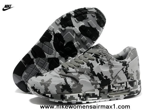 Nike Air Max 1 87 Mens Pixel Grey Black