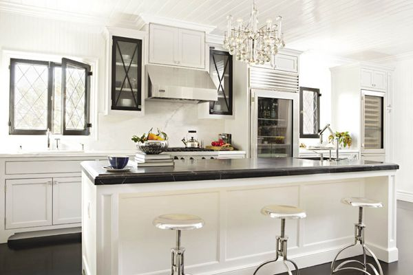 Jeff Lewis Kitchens jeff lewis bedroom - note the color of ceiling is gray while walls