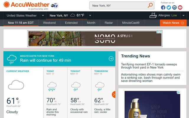 The Best Weather Sites Weather sites, Weather, Watch news