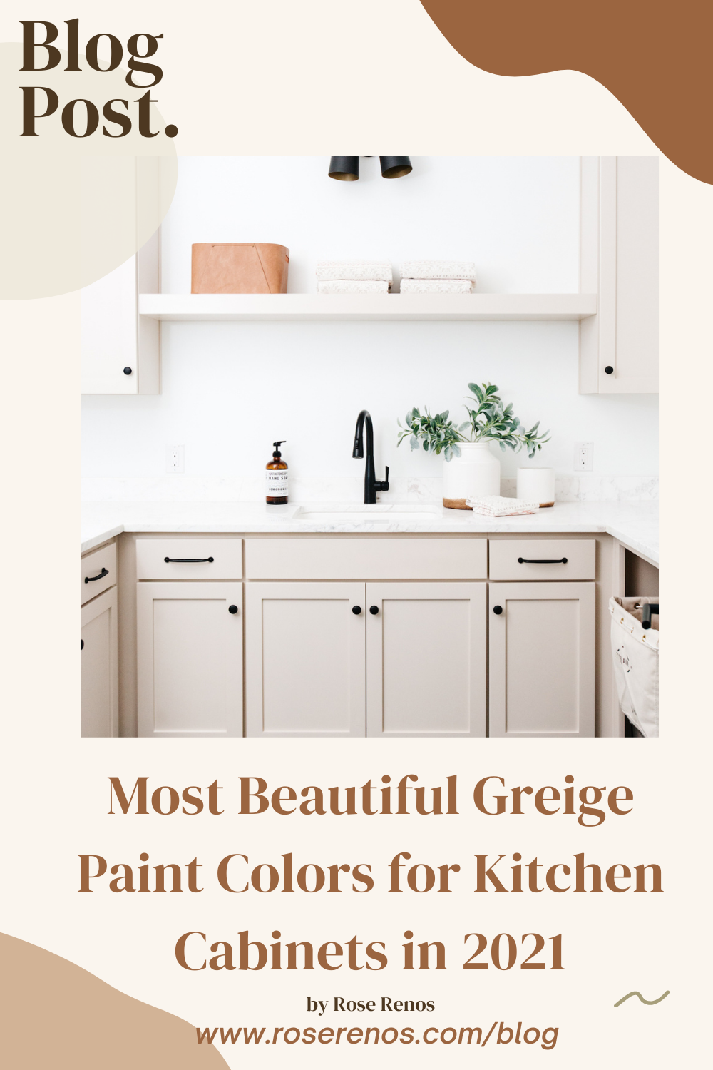 Most Beautiful Greige Paint Colors for Kitchen Cabinets in 2021