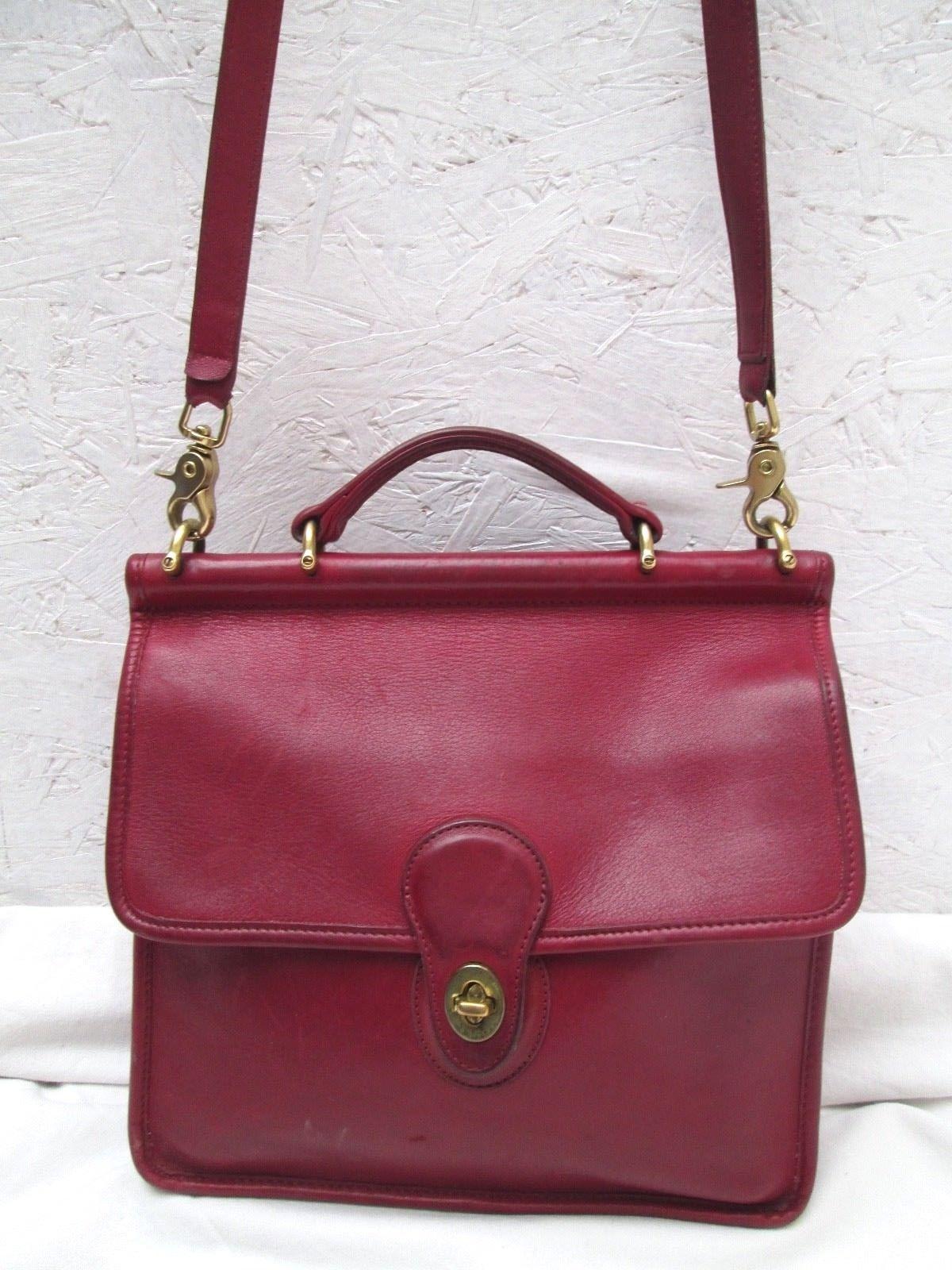 ef6ffd9003c AUTHENTIQUE sac à main type sacoche mixte en cuir COACH vintage bag ...