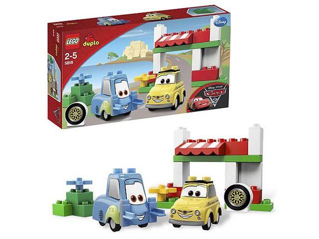 Lego 5818 Duplo Cars Luigi Guido In Italie Italian Place