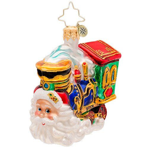 Christopher Radko Glass Choo Choo Claus Gem Santa on Train Christmas Ornament 1017205 ** Click image for more details.