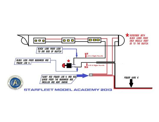 star trek starfleet model academy wiring diagram tos 1 350 rh pinterest co uk 3-Way Switch Wiring Diagram 3-Way Switch Wiring Diagram