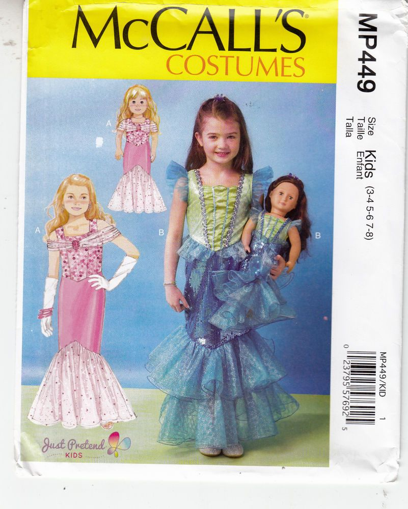 Mccall's M7175 3-8 Sewing Pattern Girls & Matching Doll Gowns ...