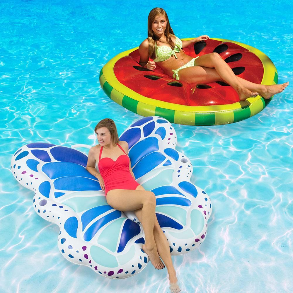 Swimline Watermelon Slice And Butterfly Extra Large Swimming Pool