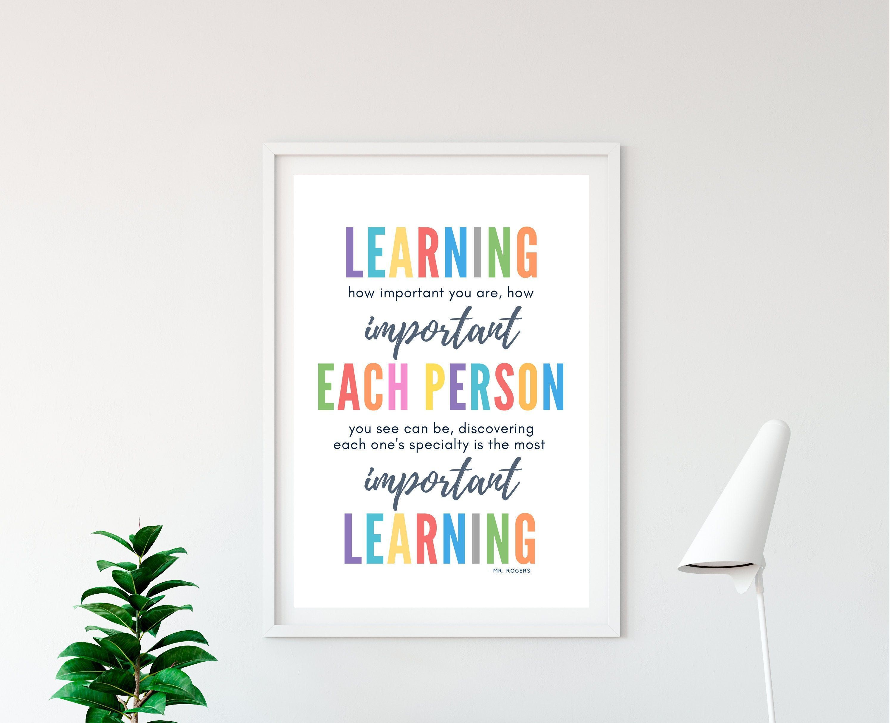 Mr Rogers Quotes Growth Mindset Art Colorful Printable Wall Art Pastel Classroom Decor Educational Posters Teacher Digital Download Art Classroom Col Etsy