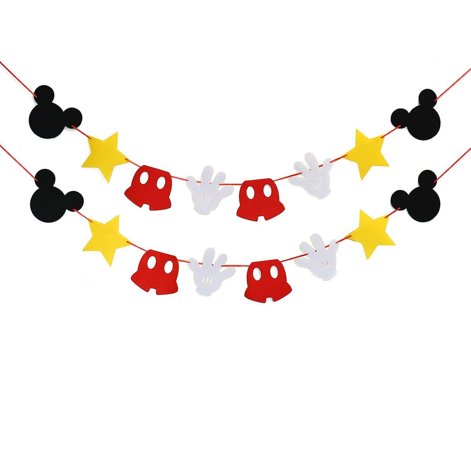 Amazon Com Mickey Mouse Themed Felt Garland Birthday Party Banner