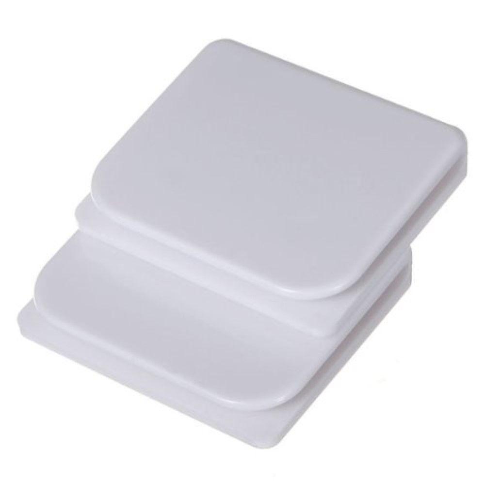 SlipX Solutions Shower Splash Clips (Set of 2), White