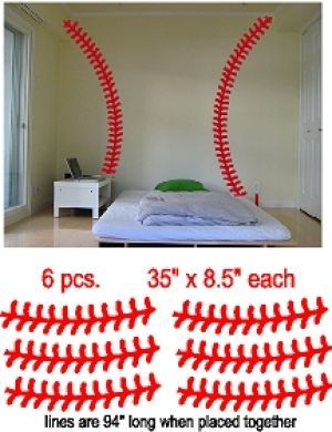 Baseball Stitches Wall Decal //.vinyl-decals .com/baseball_stitches_wall_decal-SP_baseball-stitches.php  sc 1 st  Pinterest : baseball stitches wall decal - www.pureclipart.com
