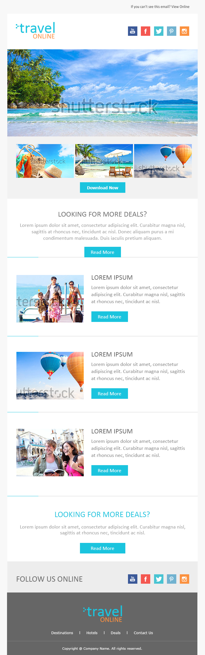Email Newsletter Examples Business Email Templates Sample  Sh