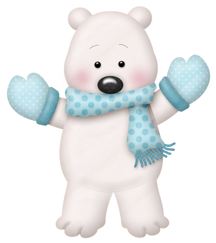 WINTER TEDDY BEAR CLIP ART