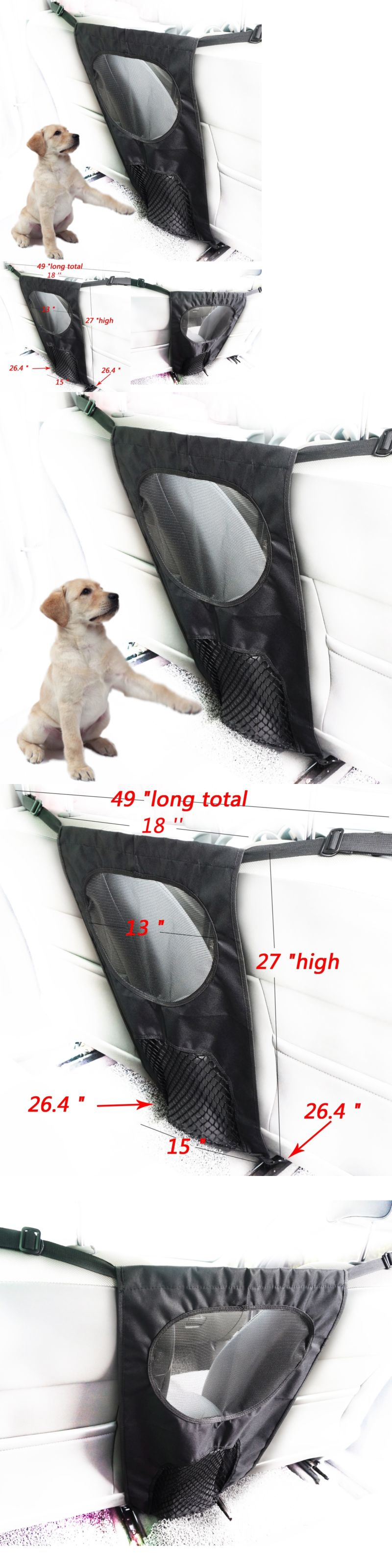 Car Seats and Barriers 46454: Universal Car Pet Barrier Mesh ...