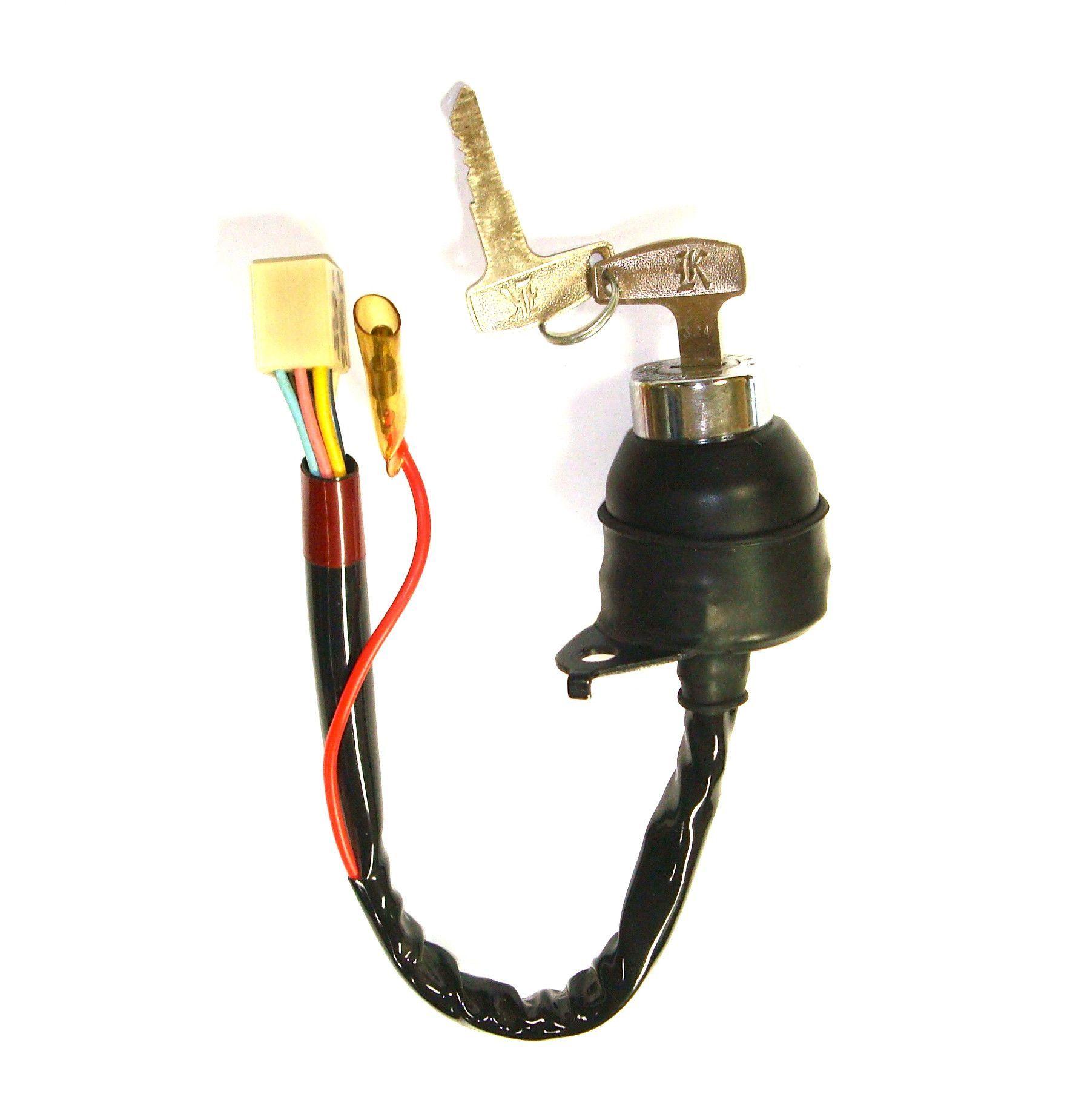 kawasaki 27005-085 kh100 ignition switch w/keys (1976-1977