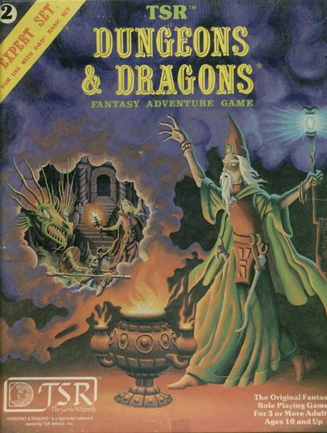 Book Cover Graphism Games : Old d expert set cover i played this game for about