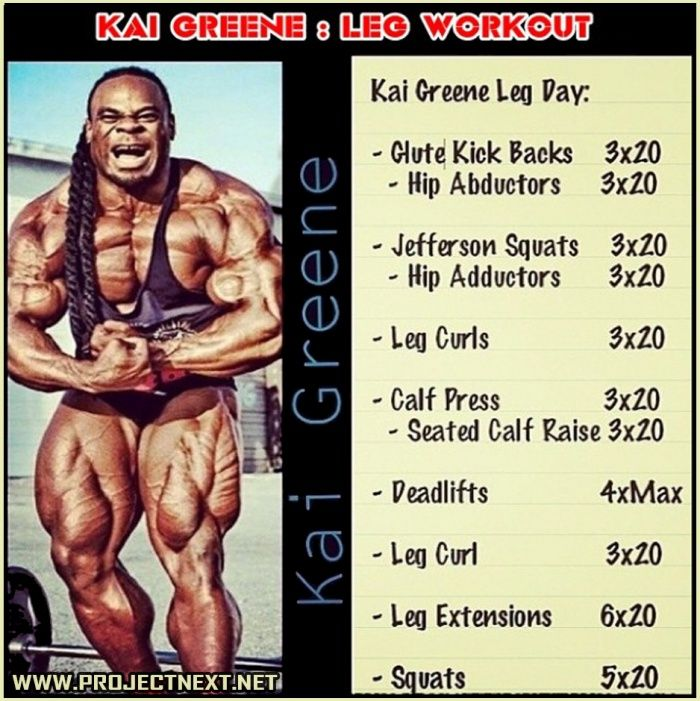 Kai Greene: Leg Workout ! Never Skip Leg Day And Be