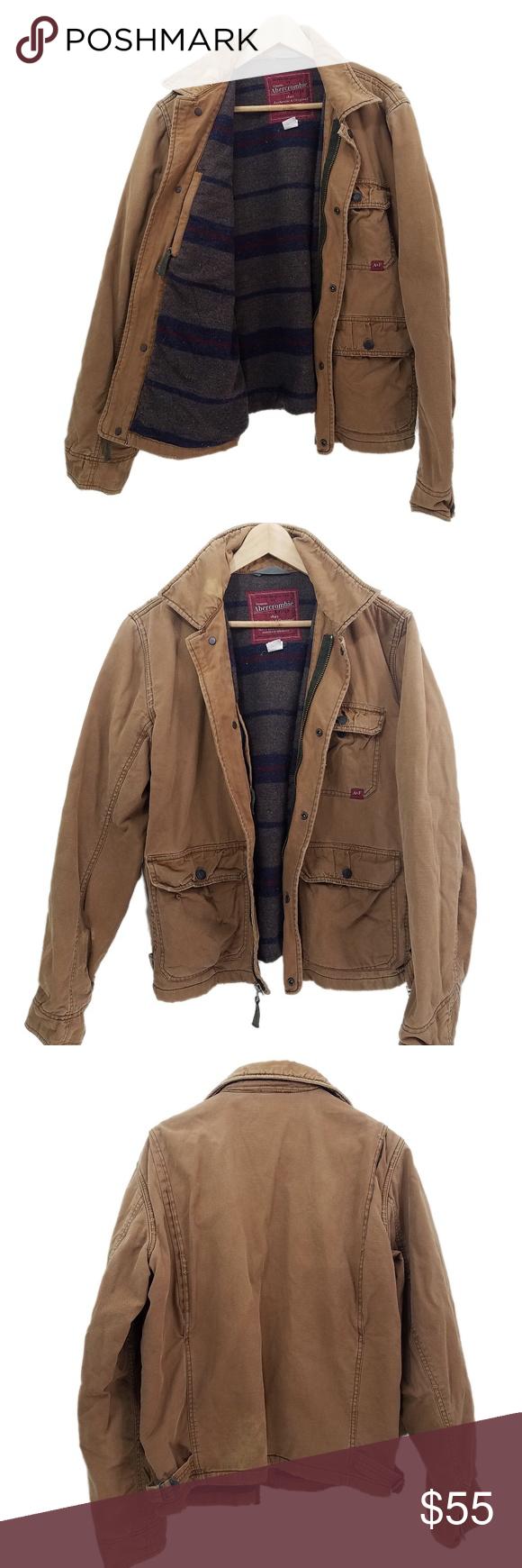 Abercrombie u fitch distressed mens winter jacket mens winter