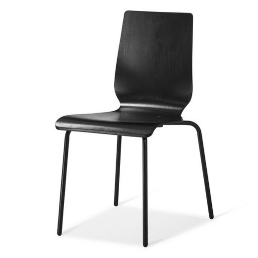 Bent Plywood Stacking Chair Black